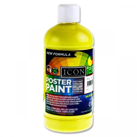 Poster Paint Lemon Yellow 500ml