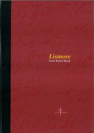 Hardback Copy 9x7 120 Page - Feint Ruled - Red & Black