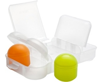 Lunch Box 310x155x85mm - Divided Compartments - Rubbish Free lunch Box - Assorted Colours