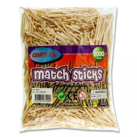 Match sticks natural 2000 pack