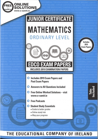 Junior Cert Maths Ordinary Level - Includes 2019 Exam Papers - Sample & Past Exam Papers