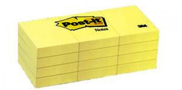 """Post-it Medium 3""""x3"""" 12 Pack"""