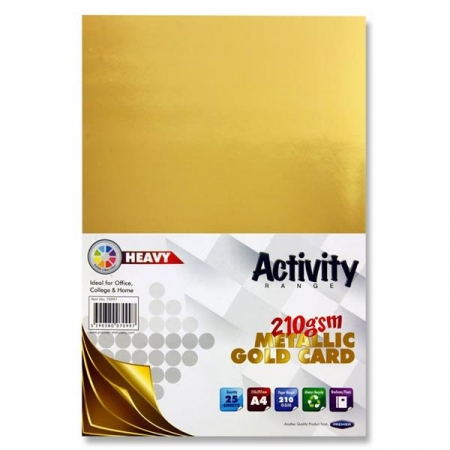 Metallic Gold Card A4 25 pack 160gsm