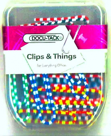 Paper Clips 33mm Coloured - 50's