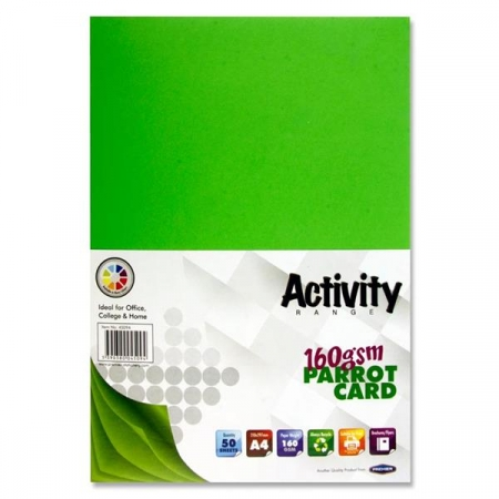 Green Card (Parrot) A4 Pack 50 - 160gsm