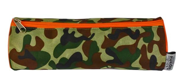 Pencil Case Cylindrical - 1 Zip - Army Camouflage