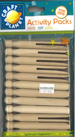 Dolly pegs natural 12 pack