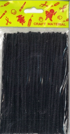 Pipe Cleaners 15cm 50's - Black