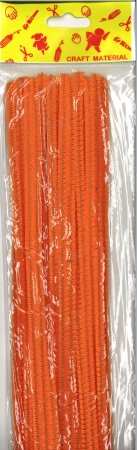 Pipe Cleaners 30cm 25's - Orange