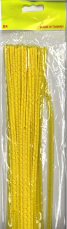 Pipe Cleaners 30cm 25's - Yellow