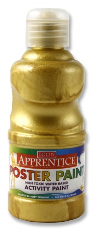 Poster Paint Metallic Gold 250ml