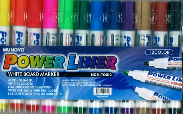 Powerline 12 Pack Whiteboard Markers