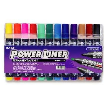 Permanent Markers Assorted Colours 12 Pack