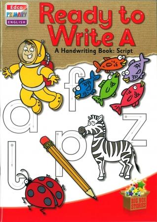 Ready To Write A - A Handwriting Book: Script - Big Box Adventures - Junior Infants