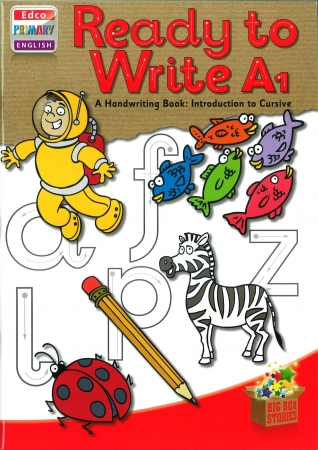 Ready To Write A1 - A Handwriting Book: Introduction To Cursive - Big Box Adventures - Junior Infants