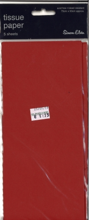 Tissue Paper 5 Sheets - Red