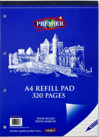 Refill Pad 320 Page A4 Top Bound