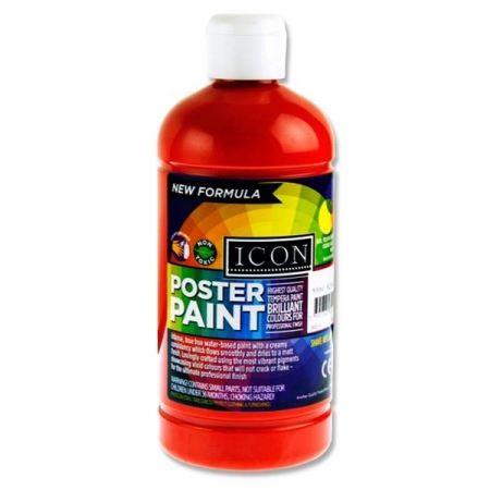 Poster Paint Scarlet Red 500ml