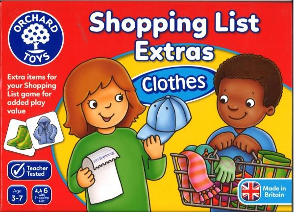 Shopping list clothes