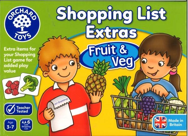 Shoppin list fruit/veg