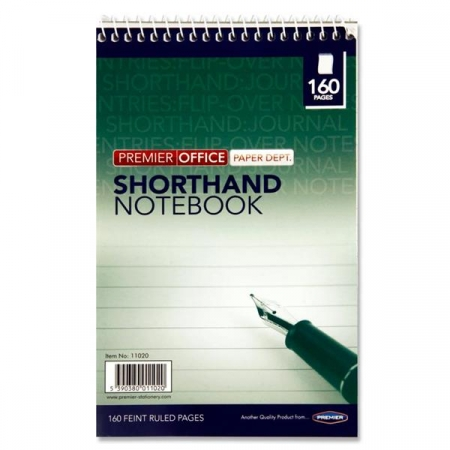 Shorthand Notebook Spiral Top 160 Page