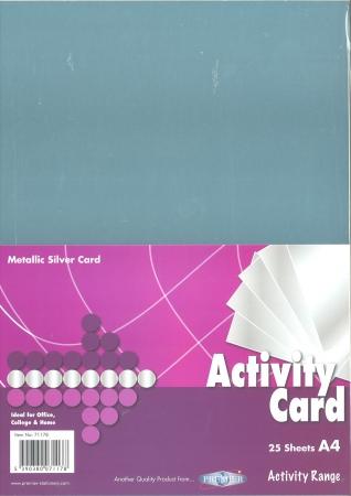 Metallic Silver Card A4 25 Pack 160gsm