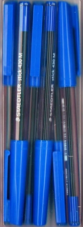Staedtler Stick Pen - 6 Pack - Blue