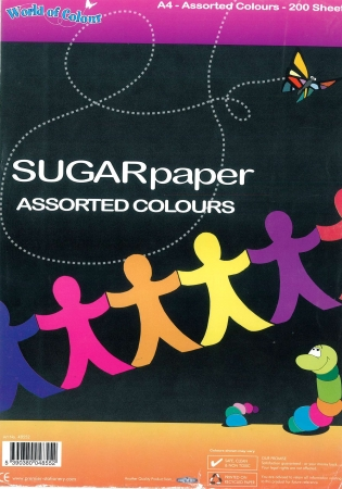 Sugar Paper A4 Mixed Colour 200 Pack