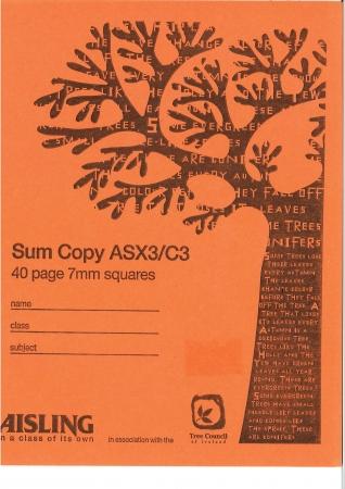Sum Copy 40 Page 7mm Squares C3