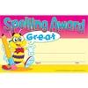 Certificate Spelling Award 30's