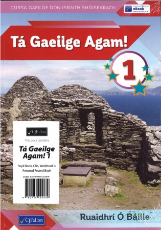Tá Gaeilge Agam! Pack Textbook, CD's, Workbook & Personal Record Book