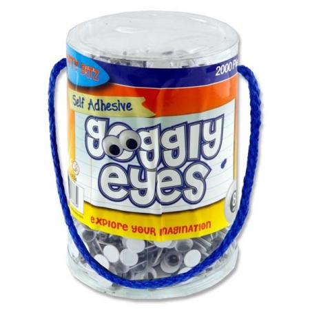 Wiggly Eyes 2000 Tub 8mm