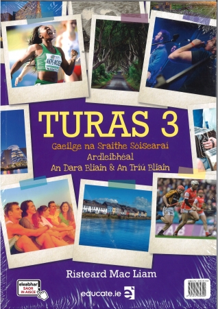 Turas 3 Textbook & Portfolio/Activity Book and 2 CD's Pack Higher Level (Ardleibhéal) Junior Cycle Irish