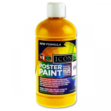 Poster Paint Warm Yellow 500ml