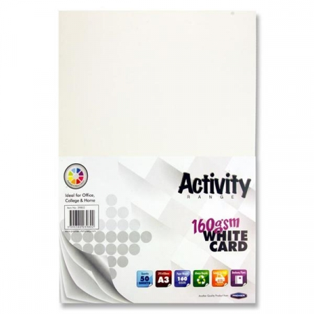 White Card A3 50 Pack 160gsm