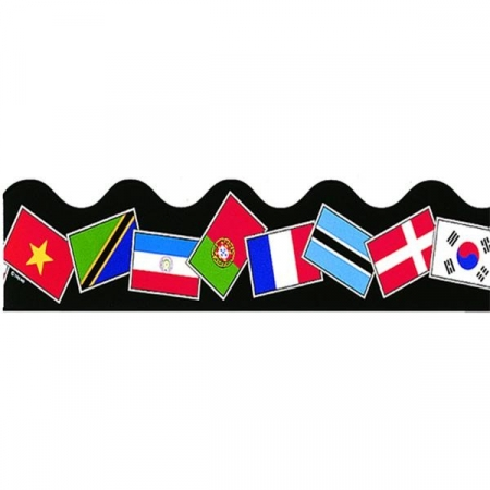 Border Terrific Trimmers World Flags - 39 Feet