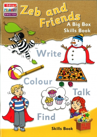 Zeb & Friends Skills Book - A Big Box Skills Book - Big Box Adventures - Senior Infants